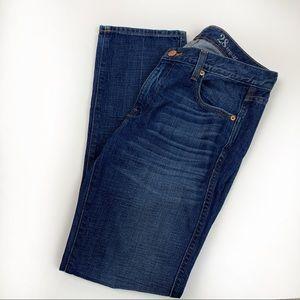 J Crew Vintage Straight Jeans Dark Medium Wash  28